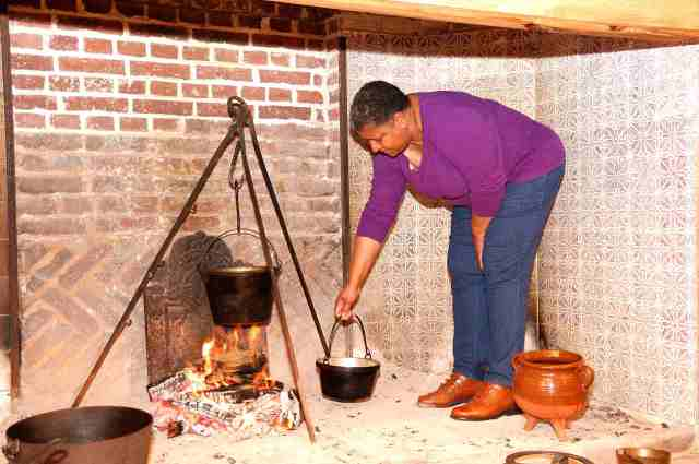 Felicia Brooks in the hearth
