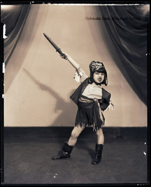 Dancer Betty Beh was a fierce pirate in 1929 and would have made a great museum interpreter. Image courtesy of the Nebraska State Historical Society