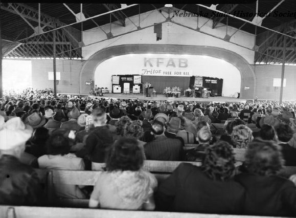 """Free Fritos (or witnessing a Fritos free for all--imagine!) could certainly draw an audience. So can """"canned programming."""" Image courtesy of the Nebraska State Historical Society"""