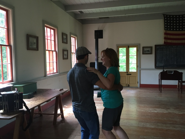 Susan Reckseidler takes a traditional Creole dancing lesson, complete with live accordion music