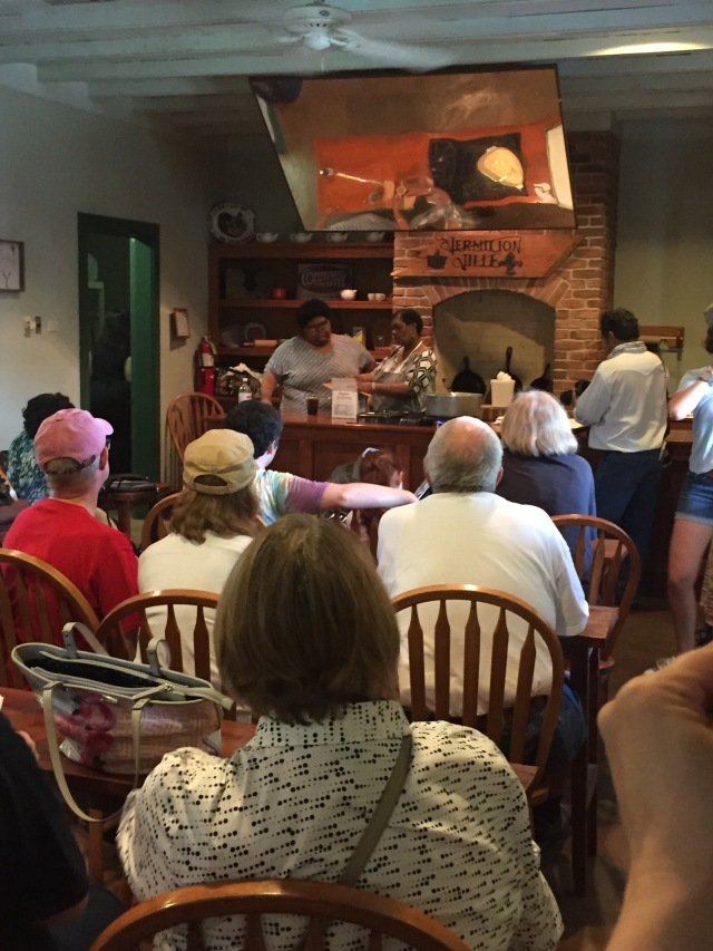 Pecan candy demonstration at Vermilionville. Smelled divine!