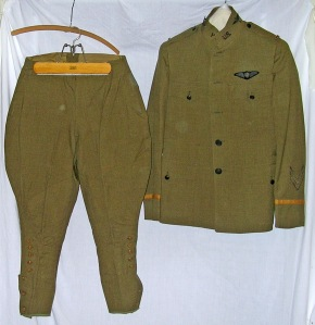 Uniform worn by Second Lieutenant Myron Aubineau of Flagstaff, Arizona during WWI. Photo courtesy of Sharlot Hall Museum.