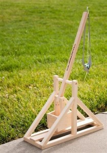 Trebuchet kit available at Makershed