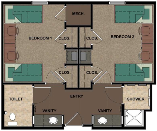 new hall room layout